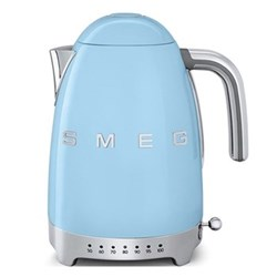 50's Retro Kettle with 7 temperature settings, 1.7 litres, pastel blue