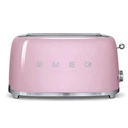 50's Retro 4 slice toaster - 2 slot, pink