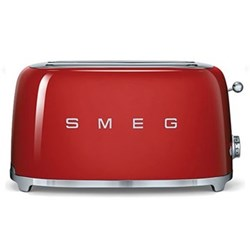 50's Retro 4 slice toaster - 2 slot, red