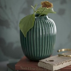 Hammershoi Vase, H20 x W16.5cm, green