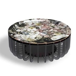 Medusa Large coffee table with removable tray, D65 x H27cm, black