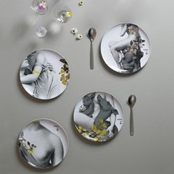 Set of 4 extra melamine plates D25cm