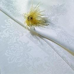 Chrysanthemum Tablecloth, 183 x 320cm, off white single damask