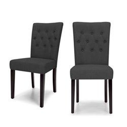 Set of 2 dining chairs H95 x W45 D61cm