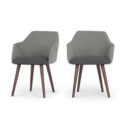 Set of 2 high back carver dining chairs H83 x W60 x D61cm