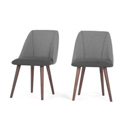 Set of 2 dining chairs H83 x W53 x D61cm