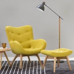 Doris Accent chair, H89 x W74 x D84cm, shetland moss