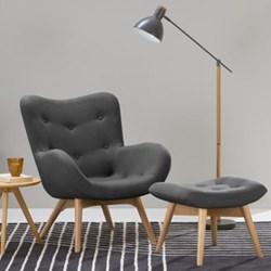 Doris Accent chair, H89 x W74 x D84cm, shetland slate