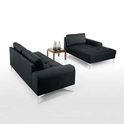 Vittorio Right hand facing corner sofa group, H81 x W289 x D151/92cm, anthracite grey