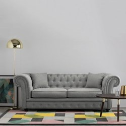 2 seater chesterfield sofa H76 x W216 x D94cm