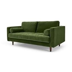 Scott Large 2 seater sofa, H86 x W185 x D100cm, grass cotton velvet