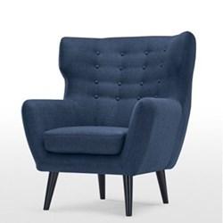 Kubrick Wing back chair, H105 x W83 x D85cm, scuba blue
