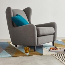Wingback armchair H88 x W83 x D100cm