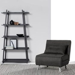 Haru Single sofa bed, H85 x W77 x D85cm, cygnet grey