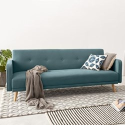 Chou Sofa bed, H82 x W210 x D88cm, sherbet blue