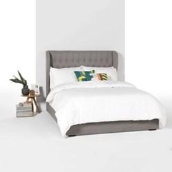 Bergerac Super king size bed with storage, H160 x W197.5 x D217.5cm, graphite grey