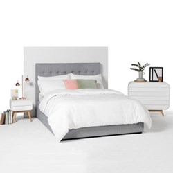 Super king size bed with storage H120 x W197 x D218cm