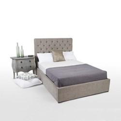King size bed with storage H128 x W165 x D213cm
