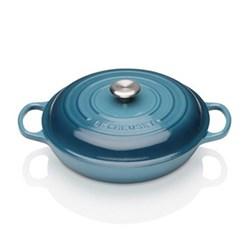 Signature Cast Iron Shallow casserole, 30 x 6cm - 3.2 litre, marine