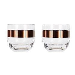 Tank Pair of whiskey glasses, W8.5 x H8cm, glass