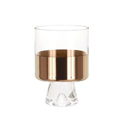 Tank Pair of low ball glasses, W8 x H11cm, glass
