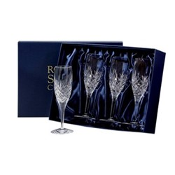 Edinburgh Set of 4 champagne flutes, 20.7cm