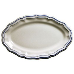 Filets Bleu Oval platter, 41 x 26.2cm