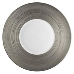 Hemisphere Presentation plate, 31cm, full platinum rim