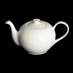 Classic Teapot round, 1.3 litre, white bone china