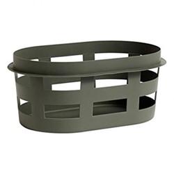 Plastic laundry basket, L57.5 x W37.5 x H24.5cm, army green