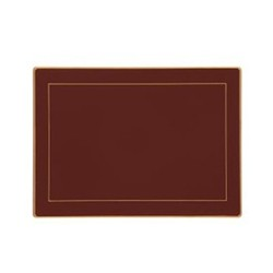Screened Range Set of 4 placemats with frame line, 30 x 22cm, regal red