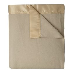 Lambswool and Cashmere Double blanket, 230 x 255cm, Champagne