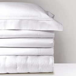 Triomphe Super king size fitted sheet, 180 x 200cm, white