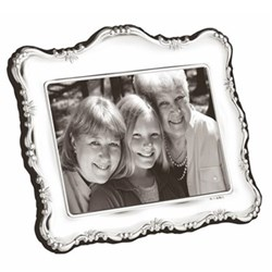 "PDR Series Photograph frame, 4 x 6"", sterling silver with blue velvet back"