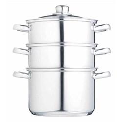 Steamer set 3 tier, 20cm, stainless steel