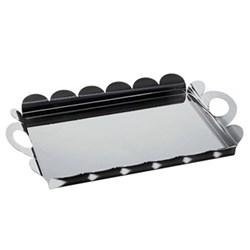 Rectangular tray with handles 45cm