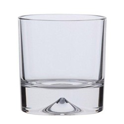 Dimple Pair of double old fashioned tumblers, H9.6cm - 37cl, clear