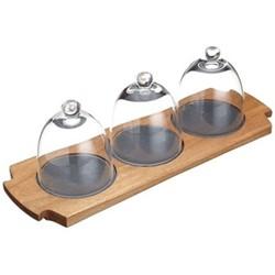 Master Class Artesa Appetiser serving set, 37 x 12 x 12.5cm