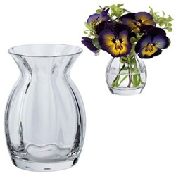 Florabundance Pansy vase, H9.5cm, clear