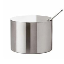 Arne Jacobsen Sugar bowl, H5.5 x W7.5cm, satin stainless steel