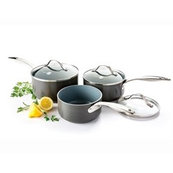 Venice 3 piece saucepan set, ceramic non-stick