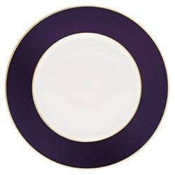 Sous le Soleil Charger plate, 30cm, cobalt blue with classic matt gold band