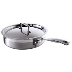 3 Ply Stainless Steel - Uncoated Sauté pan and lid, 24cm - 2.9 litre