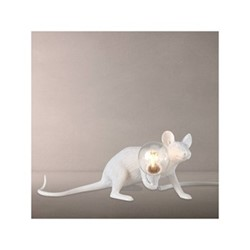Mouse - Lie Down Lamp, L6.2 x W21 x H8.1cm, white