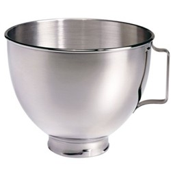 Polished bowl with handle for mixer 4.8 litre