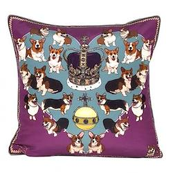 Your Majesty Purple Cushion, L45 x W45cm, multi