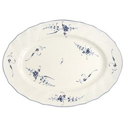 Old Luxembourg Oval platter, 43cm, porcelain