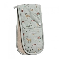 Woodland Double oven glove, 18 x 84cm, green