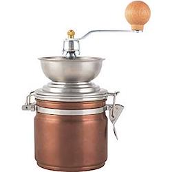 Origins Manual coffee grinder, 18.5cm x 11.5cm x 11.5cm, copper