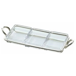 Snack server 3 part rectangular 31cm